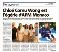 摩納哥曰報(二零一八年七月二十八日)- APM MONACO 贊助鄺希敏未來的四年
