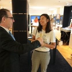 chloe cornu wong at apm monaco with champagne 1