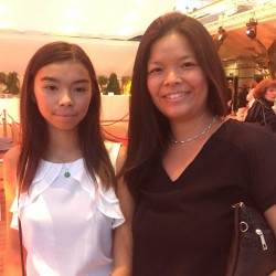china night monaco 2017 chloe cornu wong and mum 2